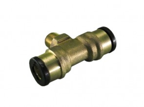 "Te Orientable Macho Central 1/4"" - Tubo 10 mm"